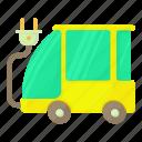 car, cartoon, cord, eco car, eco-friendly, power, traffic icon