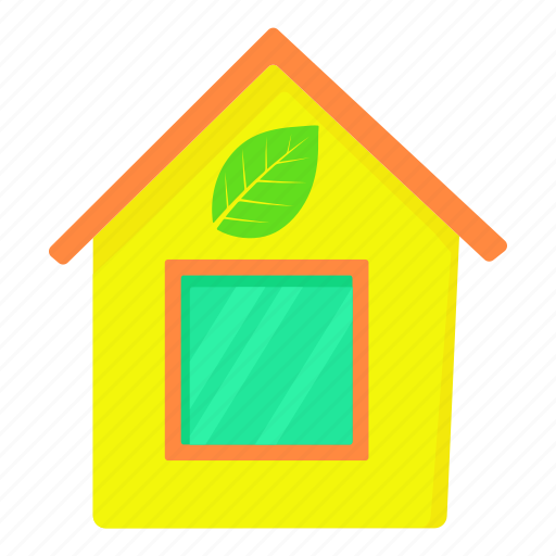 business, cartoon, eco house, green, housing, property, save icon
