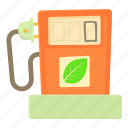 cartoon, dispencer, eco gas station, fuel, gallon, gas, station icon
