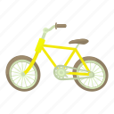 bicycle, bike, cartoon, cycle, healthy, pedal, sport icon