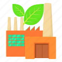 cartoon, eco factory, engineering, heavy, industrial, pollution, power icon