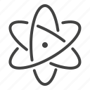 atom, chemistry, ecology, nuclear, research, science icon