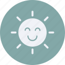 eco, ecology, energy, environment, forest, nature, smiling, sun icon