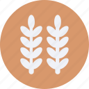 ecology, environment, green, leaf, nature, plant, tree, wheat icon