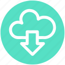 .svg, cloud and download arrow, cloud computing, cloud download, cloud downloading, cloud network icon