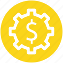 .svg, dollar, gear, money, online, rotate, work icon