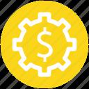 .svg, dollar, gear, money, online, rotate, work