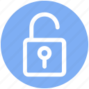 .svg, lock, open, padlock, security, unlock icon