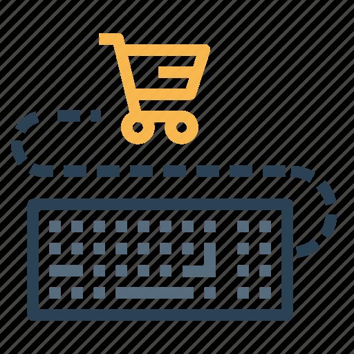 cart, ecommerce, finance, keyboard, sale, shopping icon