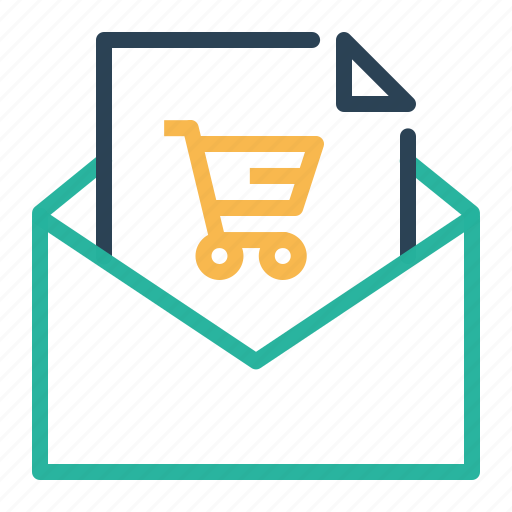 ecommerce, email, message, offer, online, shop, shopping icon