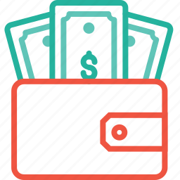 dollar, finance, money, pocket, purse, wallet icon