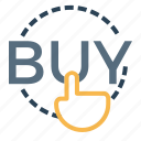 buy, discount, ecommerce, hand, shop, shopping, touch icon