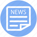 .svg, news, newspaper, paper, press, reading, subscribe icon