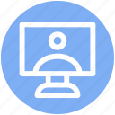 .svg, desktop, monitor, pc, screen, user, video chat discus icon