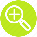 .svg, glass, magnifier, magnifying glass, zoom in icon