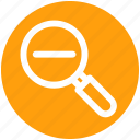 .svg, glass, magnifier, magnifying glass, zoom out icon
