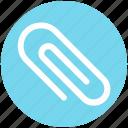 .svg, attach file, attachment, paper binder, paper clinch, paper clip, stationery icon