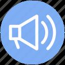 .svg, announcement, loud, loudspeaker, megaphone, sound, speaker icon