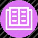 .svg, book, book mark, open, open book, school book icon