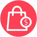 .svg, bag, dollar, dollar sign, hand bag, shopping, shopping bag icon