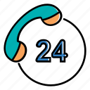 24h, 24 hours, customer service, non stop, support, service, ecommerce