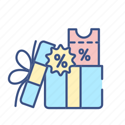 commerce, discount, discount icont, gift, gift icon, new, present icon