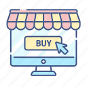 commerce, buy, monitor, online shopping, buy icon, new, pointer icon