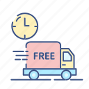 clock, deliver, deliver icon, discount icon, free deliver, new, transport icon