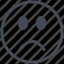 avatar, emoji, emoticon, expression, face, sad, smiley