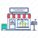 godown, marketplace, outlet, shop, store, storehouse icon