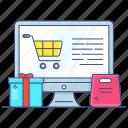 digital shopping, ecommerce, eshopping, online shopping, shopping website, web shopping icon
