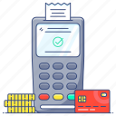 cash till, invoice machine, point of sale, pos, pos terminal icon