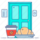 food delivery, food parcel, food service, food shipping, meal delivery icon