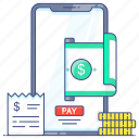 epay, mobile banking, mobile payment, mobile transaction, online banking icon