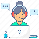 call center, crm, customer services, customer support, helpline icon