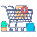 add to cart, add to shopping, ecommerce, online shopping, shopping cart, shopping trolley icon