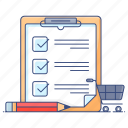 checklist, documents, list, plan list, shopping list, task list, todo list icon