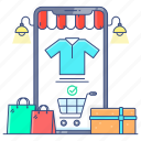 ecommerce, mecommerce, mobile app, online buying, online shop, shopping app icon