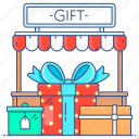 gift shop, godown, market place, outlet, store, storehouse icon