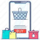 ecommerce, mecommerce, mobile app, mobile banking, online buying, shopping app icon