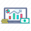 business analytics, business infographic, data analytics, online trending, web analytic icon