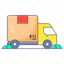 cargo, delivery van, logistic delivery, shipment, shipping truck, van icon