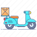delivery services, fast delivery, logistic delivery, on time delivery, quick delivery, shipping scooter icon