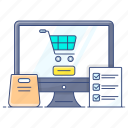 ecommerce, online order, order confirmation, shopping website, submit order icon