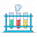 chemistry, laboratory equipment, laboratory test, sample, science experiment, test tubes icon