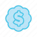 business, cloud, dollar, ecommerce, market, money, shop icon