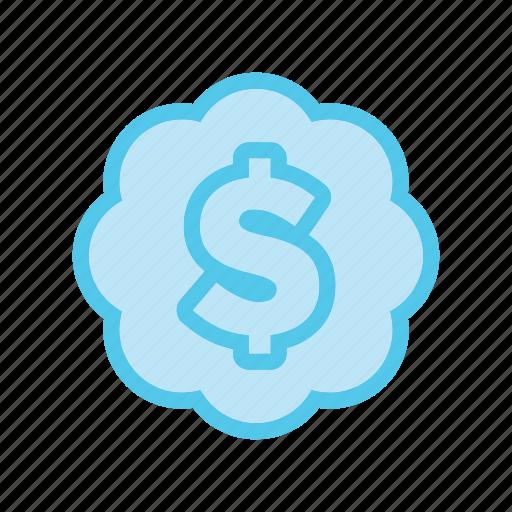business, cloud, dollar, ecommerce, market, money, shop icon