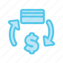 atm, credit card, cycle, dollar, ecommerce, money, money cycle icon