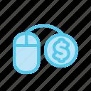 business, dollar, ecommerce, market, monetize, mouse, online shop icon