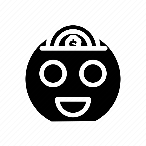 coin, dollar, ecommerce, money, saving, smile icon
